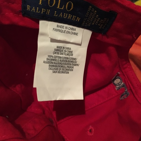 Polo by Ralph Lauren Other - Boys Red Polo hat 8-20